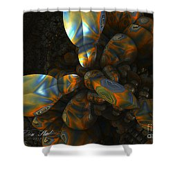 Shower Curtain featuring the digital art Crawdad by Melissa Messick