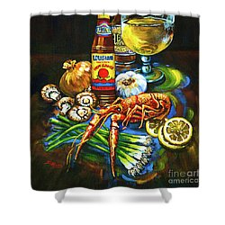 Crawfish Fixin's Shower Curtain