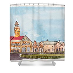 Crawford Market Mumbai Shower Curtain