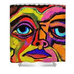 Crayon Bob Shower Curtain