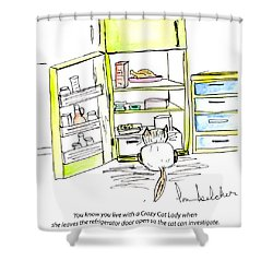 Crazy Cat Lady 0003 Shower Curtain by Lou Belcher