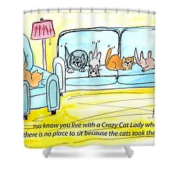 Crazy Cat Lady 0004 Shower Curtain