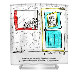 Crazy Cat Lady 0005 Shower Curtain by Lou Belcher