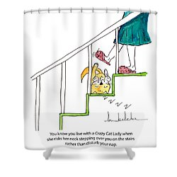 Crazy Cat Lady 0006 Shower Curtain by Lou Belcher