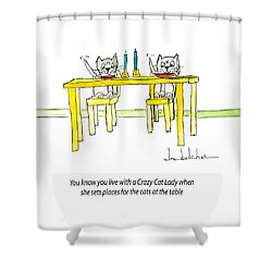 Crazy Cat Lady 0007 Shower Curtain by Lou Belcher