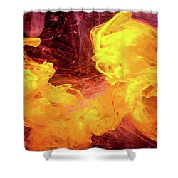 Crazy Chase - Purple And Yellow Abstract Photography Shower Curtain