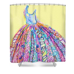 Crazy Color Dress Shower Curtain
