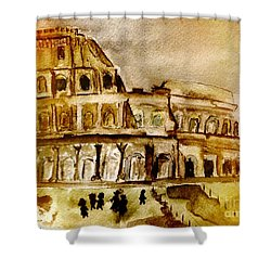 Crazy Colosseum Shower Curtain