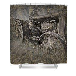 Crazy Farmer Shower Curtain