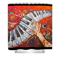 Crazy Fingers - Piano Keyboard  Shower Curtain by Sue Duda