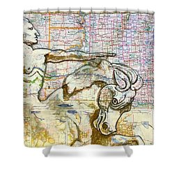 Crazy Horse Shower Curtain