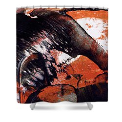 Crazy Mouse - Modern Abstract Art Painting Shower Curtain