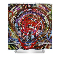 Crazy Quilt Star Dream Shower Curtain