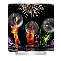 Shower Curtain featuring the digital art Crazy Space By Nico Bielow by Nico Bielow