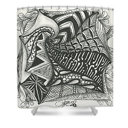 Crazy Spiral Shower Curtain