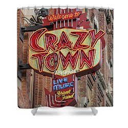 Shower Curtain featuring the photograph Crazy Town by Stephen Stookey