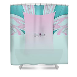 Cream Mint Shower Curtain
