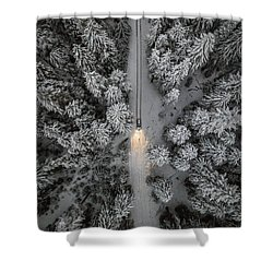Create Your Own Path  Shower Curtain