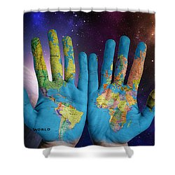 Created By God's Own Hands Shower Curtain