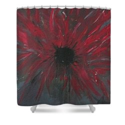 Shower Curtain featuring the painting Creation Crying by Sharyn Winters