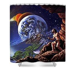 Creation Shower Curtain by Jerry LoFaro