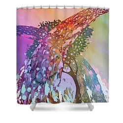 Creation Of An Orange Tree Shower Curtain by Kate Krivoshey
