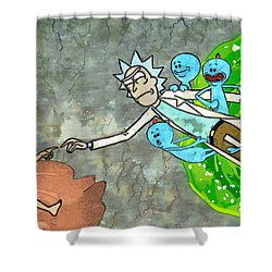 Creation Of Morty Shower Curtain