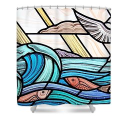 Creation Of The Sea And Sky Shower Curtain