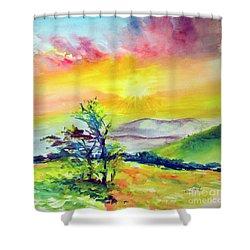 Creation Sings Shower Curtain