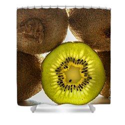 Creative Kiwi Light Shower Curtain