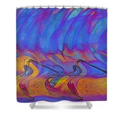 Shower Curtain featuring the digital art Creative Motion by Linda Sannuti