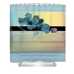 Shower Curtain featuring the photograph Creativity And Awareness In Yoga by Felipe Adan Lerma