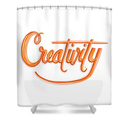 Shower Curtain featuring the drawing Creativity by Cindy Garber Iverson