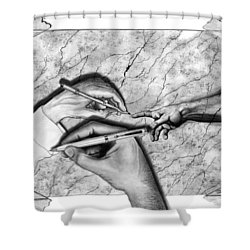 Creators Hand At Work Shower Curtain by Peter Piatt