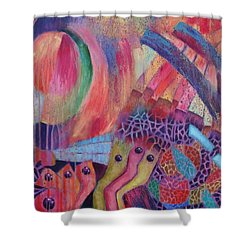 Creatures Of Sea Glass Reef Shower Curtain