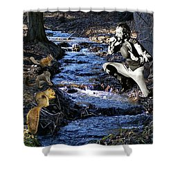 Shower Curtain featuring the photograph Creekside Serenade By Ian by Ben Upham