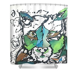 Shower Curtain featuring the painting Creep by Nicole Gaitan