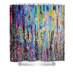 Creeping Beauty - Large Work Shower Curtain