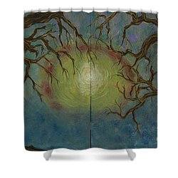 Shower Curtain featuring the painting Creeping by Jacqueline Athmann