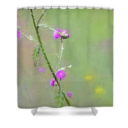 Creeping Thistle Shower Curtain