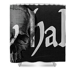 Creepy Halloween Shower Curtain by Mindy Sommers