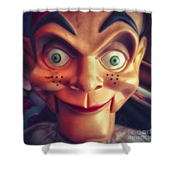 Creepy Puppet Shower Curtain