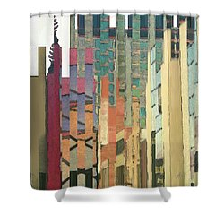 Crenellations Shower Curtain