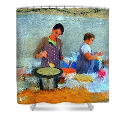 Crepe Makers Shower Curtain by Gerhardt Isringhaus