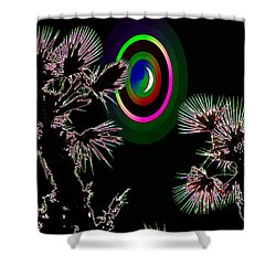 Crescent And Palms 3 Shower Curtain by Tim Allen