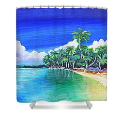 Crescent Beach Shower Curtain