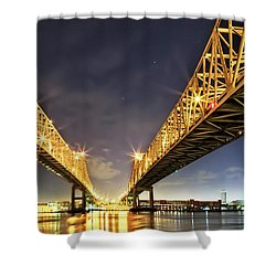 Crescent City Bridge In New Orleans Shower Curtain