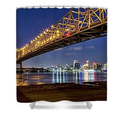 Crescent City Bridge, New Orleans Shower Curtain