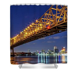 Crescent City Bridge, New Orleans, Version 2 Shower Curtain