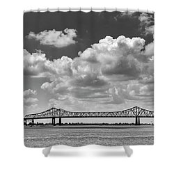 Crescent City Connection In Black And White Shower Curtain